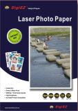 Papel lustroso elevado tomado o partido dobro da foto da impressão de laser A4