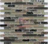 ブラウンは割ったガラスStipおよび石造りのモザイク(CFS729)を