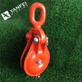 Bloque de arrebatamiento pintado anaranjado de la polea de la cuerda de alambre con el tipo de Ybo