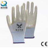 gants à moitié enduits de travail de sûreté de PVC de l'interpréteur de commandes interactif 13gpolyester (P6077)