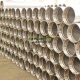 Le traitement de l'eau du filtre en coin sur le fil bien l'écran nommé Wraped tuyau sur le fil de l'écran