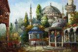 Handgemachtes die Türkei-Landschaftspaletten-Messer-Ölgemälde