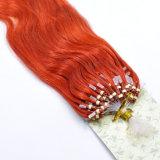 Петли кольца красного цвета выдвижение волос Remy микро- людское