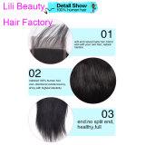 リリーの美の人間の毛髪のペルーのまっすぐなレースの正面閉鎖100%の人間の毛髪