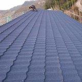 Feuille de tuile de toit de l'asphalte de bardeaux de toiture en acier recouvert de carrelage en pierre