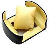 Caixa redonda preta de senhora relógio com indicador (WB-006)