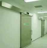 A porta de correr hermético com o sistema de controlo de segurança