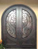 ガラスが付いている鋼鉄最もよい品質の機密保護の倍の鉄のドア