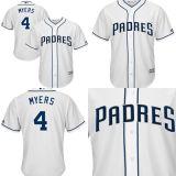 Homens Mulheres Crianças San Diego Padres Wil Myers 2017 Camisolas de beisebol da base legal