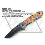 """4,5"""" закрыты пружины при содействии нож, фэнтези-карманный нож с помощью 3D-печати сернокислый алюминий ручка: Tq894-45bl"""