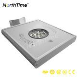 Liga de alumínio LED integrado Rua Solar com luzes de marcação/RoHS/ISO/certificações IP65
