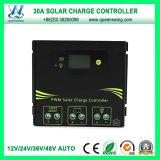 2016 12V/24V/36V/48V 30A Solar Charge Controller (QWSR-LG4830)