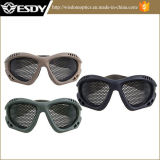 3colors戦術的な軍のAirsoftの金属の網の安全メガネガラス