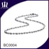 Collier en chaîne de perles de boucles d'oreille en métal coloré
