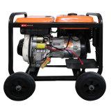 Grupo electrógeno diesel de 5kw con alta tecnología (grandes ruedas).