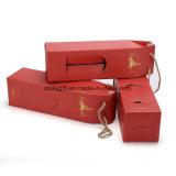La Flauta e impresión de la caja de cartón ondulado embalaje plegable de Cartón Ondulado Caja de vino con la ventana