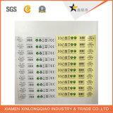 PE van het Document pvc van de Streepjescode van het overdrukplaatje de Transparante Sticker van de Markering van de Druk van het Etiket