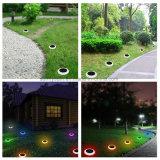 LED das luzes solares Lawn pátio do jardim da lâmpada de luz de paisagem do Caminho de luz com pontas coloridas para exterior