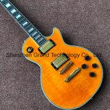 Ebony Fingerboard Custom Lp guitarra eléctrica em amarelo (BPL-536)