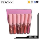 Venta caliente maquillaje Ky 6 colores mate resistente al agua Lipgloss Set Paquete Rosa
