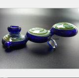 De blauwe Pijpen van de Waterpijp van het Glas Filter aan Filter