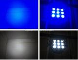 DMX512 het binnen LEIDENE Slanke Vlakke PARI kan PARI 64 het Lichte 9PCS 10W LEIDENE van RGBW Licht van het PARI