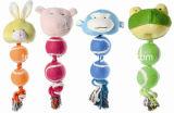 밧줄 개 장난감 견면 벨벳 박제 동물 애완 동물 장난감