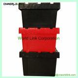 La sécurité empilable en plastique solide caisse mobile avec couvercle