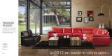 居間の本革のソファー(H3016)
