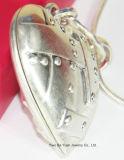Halsband van de Tegenhanger van de Doos van het Hart van de manier de Grote Anti Zilveren Gehamerde