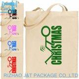 Impreso de la marca personalizada Bolso Shopper grande de algodón reutilizables vegetal lienzo aislado de la bolsa de comestibles
