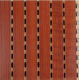 Painel de parede acústico Grooved de madeira Soundproof da igreja