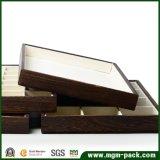 Изготовленный на заказ Stackable поднос ювелирных изделий твердой древесины