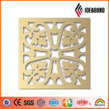 IDEABOND Diseño Tallado CNC de aluminio Panel perforado para la decoración del techo decoración exterior de China de
