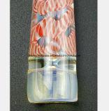 2.95 Zoll-rosafarbenes Muster des Wasser-Rohr-Glasgefäßes