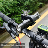 Multitarefa Lanterna LED recarregável USB com 840 lumens e 6 Modos de brilho, resistência ao impacto, à prova de táctica, Caça, camping, Noite a Cavalo