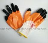 Перчатка покрынная нитрилом трудная защитная работая