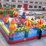 Lona de PVC crianças insufláveis Cartoon Castelo Bouncer Saltitonas coloridos