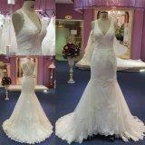 Vestido nupcial Mat-101 do vestido de casamento da sereia do laço das senhoras