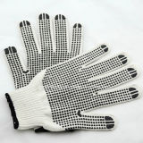 Gant de travail de sécurité à tricoter de 10 Gaines avec des points en PVC