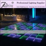 イベント党のためのカスタマイズされた3D LEDのダンス・フロアのRGBによって照らされる緩和されたガラスの床