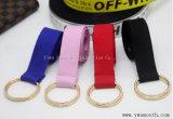 La moda la correa elástica personalizada de doble círculo de la correa de lona de color puro