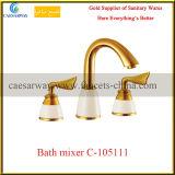 Sanitaire Gouden Badkamers 3 van Waren de Tapkraan van de Badkuip van de Was van de Manier