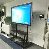 55 Zoll-SteuerRemoto Innenfußboden-stehendes Bildschirm-Flughafen-Gerät, das Screen-Bildschirmanzeige bekanntmacht