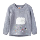 100 % Arylic Fille du chandail de la pluie de couleur & Clound Knitwear