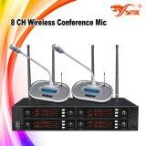 Sistema de microfone de conferência sem fio Skytone Audio 8CH UHF