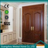 Double porte intérieure en bois solide classique pour la pièce (WDB02)