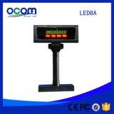 Серый черный цвет дешево 7-сегментный светодиодный индикатор на дисплее номер цифровой дисплей покупателя для POS Pole