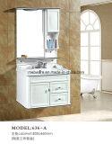 Угловойые шкафы ванной комнаты PVC, белый блок ванной комнаты PVC