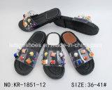 2018 sandali di plastica del pistone della gelatina di disegno con il branello di Zircon